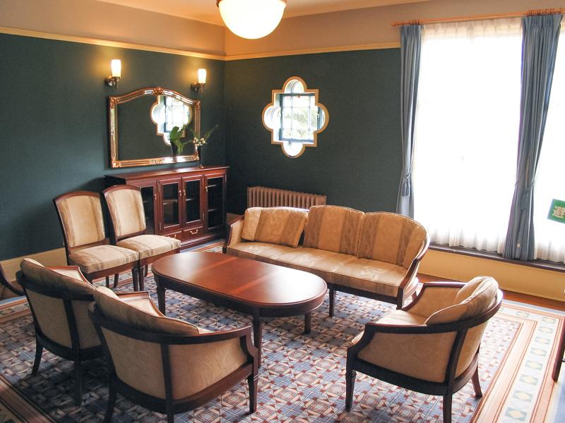 横浜山手西洋館・べーリックホールの客用寝室