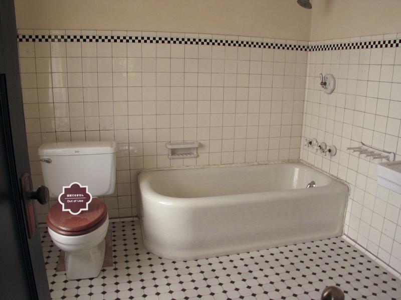 横浜山手西洋館・べーリックホールの令息寝室のバスルーム