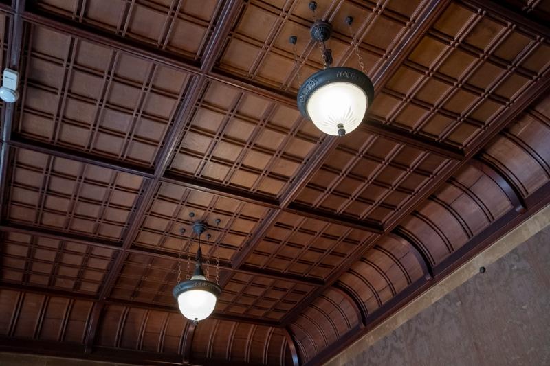 旧石川組製糸西洋館の応接室の天井