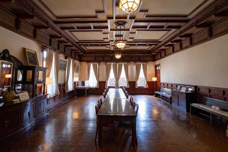 旧石川組製糸西洋館の食堂