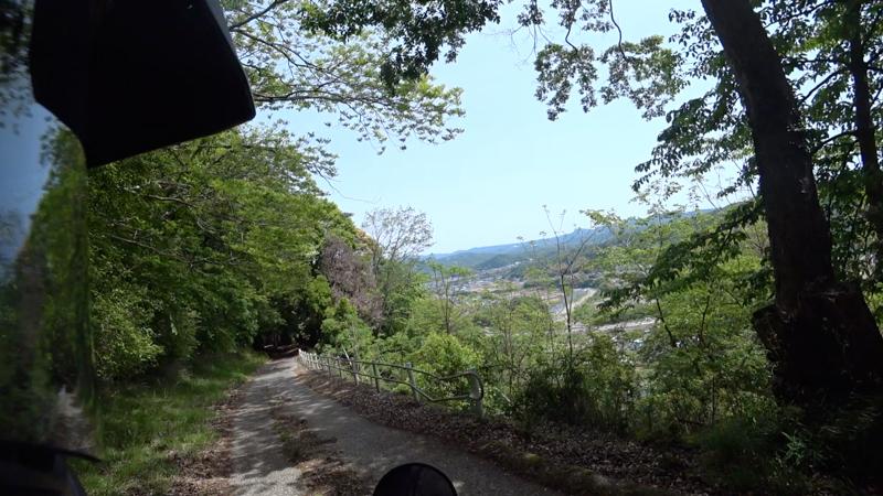 伊豆・ラフォーレ修善寺の北側のダート