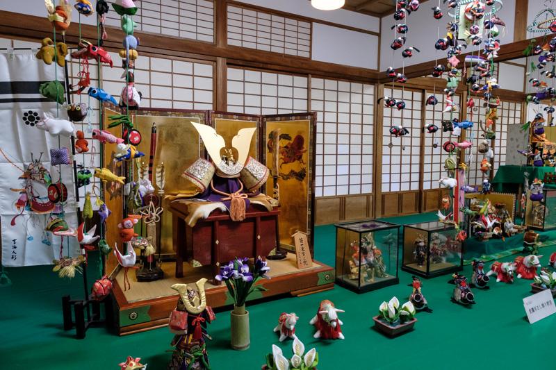 沼津御用邸・西附属邸に展示されていた五月人形