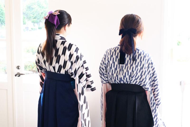 ティボディエ邸の袴姿のスタッフ