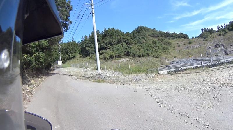 林道 栢ヶ舞線脇のソーラー施設