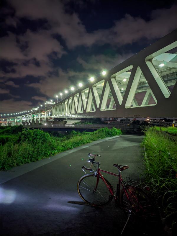 鶴見川サイクリングコース・夜景