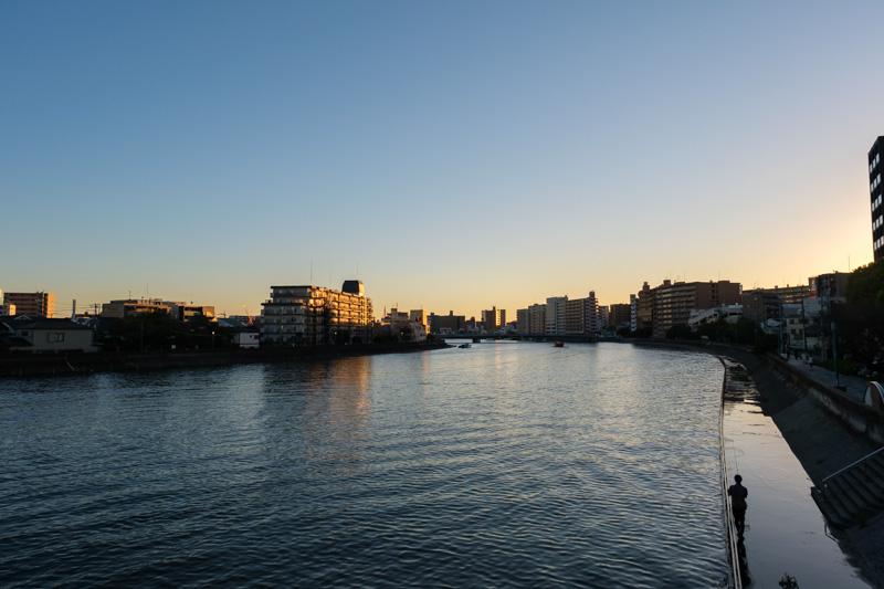 新潮鶴橋からの風景