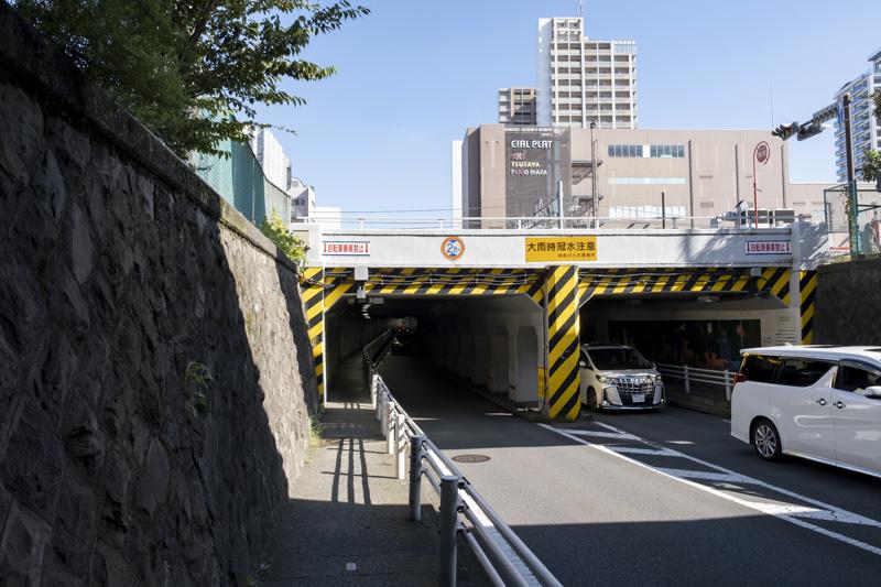 東神奈川のトンネル