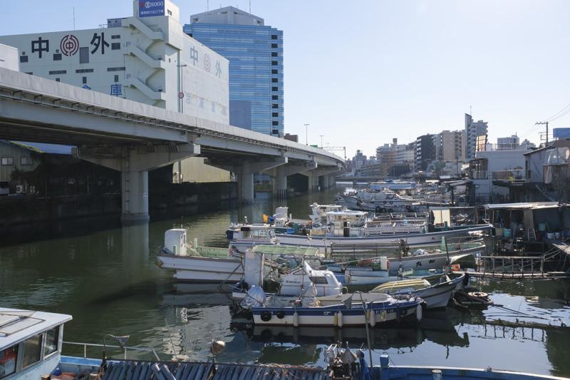 子安浜(子安漁港)の船溜まり