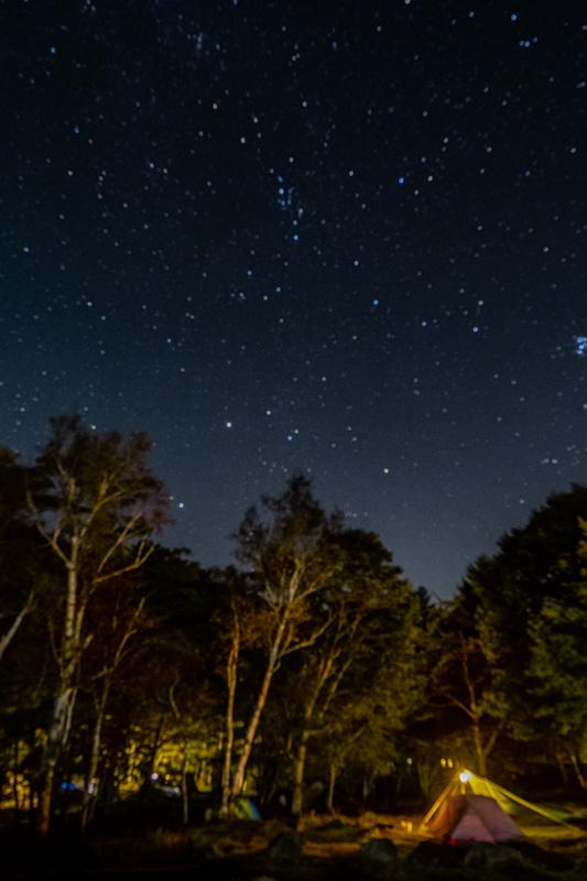 駒出池キャンプ場の星空