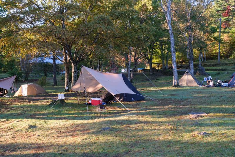 駒出池キャンプ場・3号フリーサイト