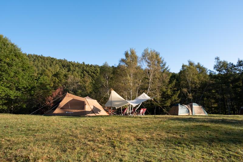 駒出池キャンプ場・4号フリーサイト