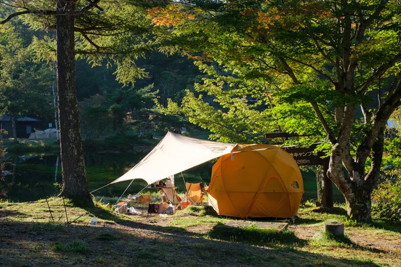 駒出池キャンプ場・2号フリーサイト